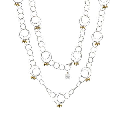 Mishca-Double-Silver-Necklace-475x475 How To Choose The Right Necklace For Your Dress?
