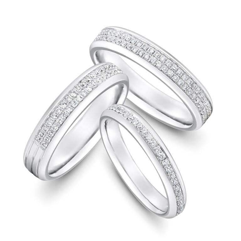 Modern-Full-Half-Set-Brilliant-Diamond-Wedding-Bands 60 Breathtaking & Marvelous Diamond Wedding bands for Him & Her