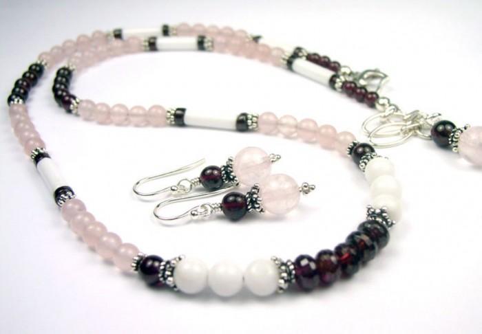 N60006f-beaded-gemstone-necklace 65 Fabulous & Stunning Handmade Beaded Gemstone Jewelries