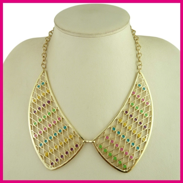 NK1230-2P15 30 Non-traditional & Unusual Gold Necklaces