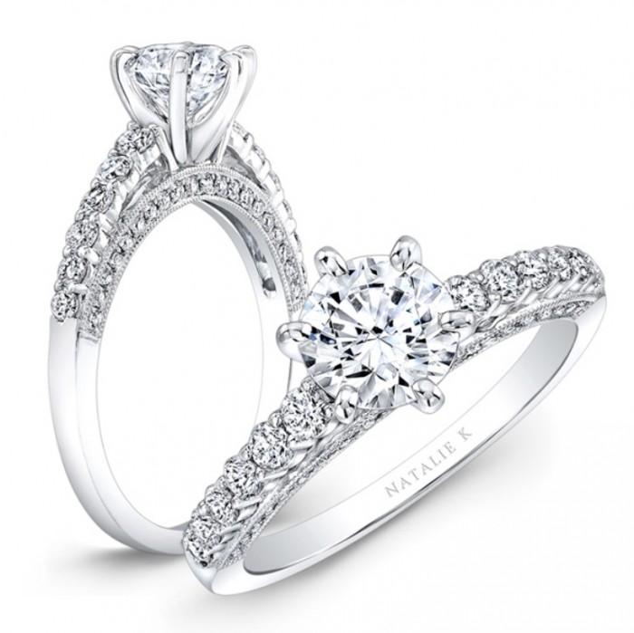 NK27715-18W 50 Unique Vintage Classic Diamond Engagement Rings