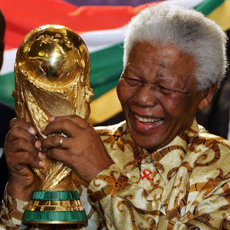 "Nelson-Mandela-FIFA-World-Cup The Anti-apartheid Icon "" Nelson Mandela "" Who Restored His People's Pride"