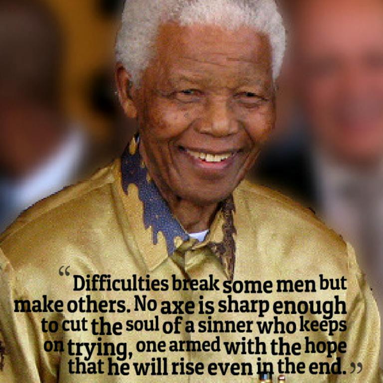 "Nelson-Mandela-Quote. The Anti-apartheid Icon "" Nelson Mandela "" Who Restored His People's Pride"