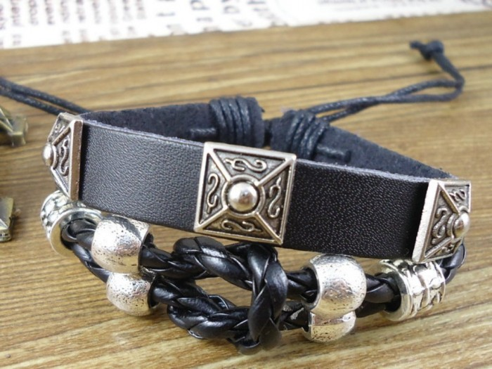 New-products-for-2013-Christmas-bohemian-handmade-vintage-belt-rope-wrap-woven-mens-leather-bracelets-bangles 40 Elegant & Catchy Handmade Men's Jewelry