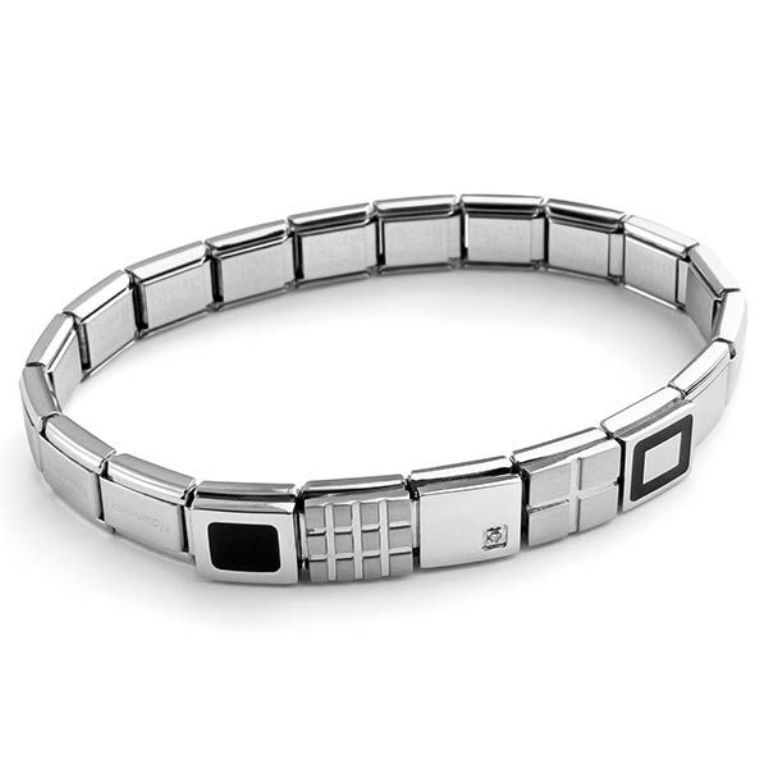 Nomination_Bracelet_Style_SOHO_with_stainless_steel_charms_and_band_10173_zoom 25 Amazing & Catchy Italian Link Charm Bracelets