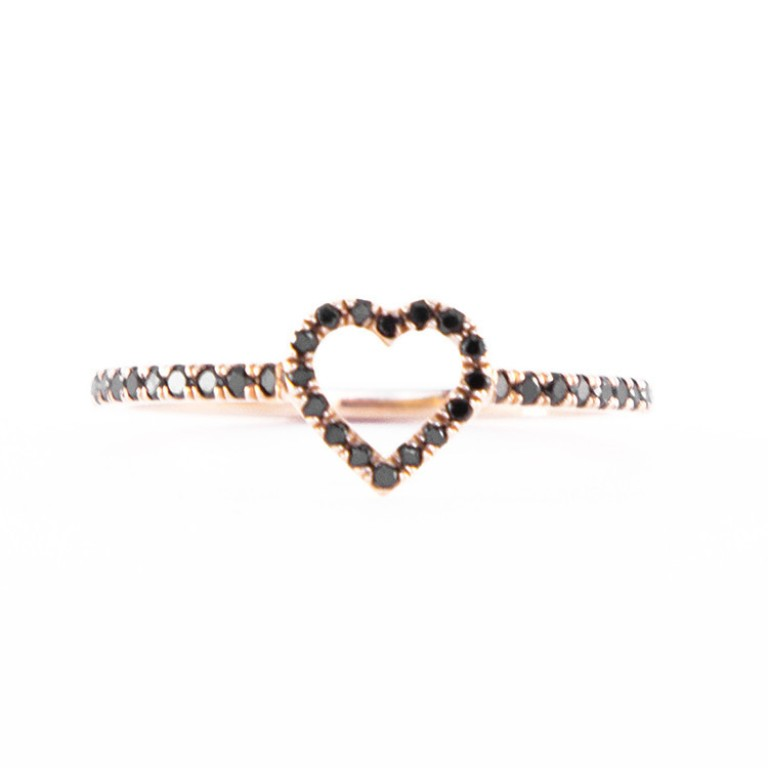 OJ_Rose-gold-heart-ring-with-black-diamonds_1_1024x1024 50 Non-Traditional Black Diamond Rose Gold Engagement Rings