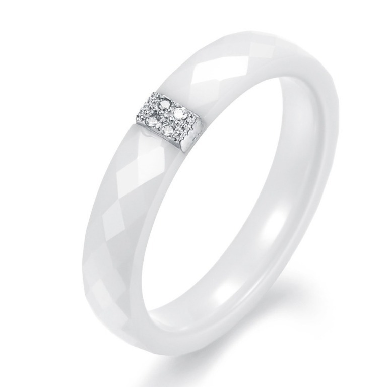 OPK-FINE-JEWELRY-2013-New-Arrival-CZ-Diamond-White-Ceramic-Women-Wedding-Ring-Sterling-Silver-Plated 60 Unbelievable Ceramic Wedding Bands for Him & Her