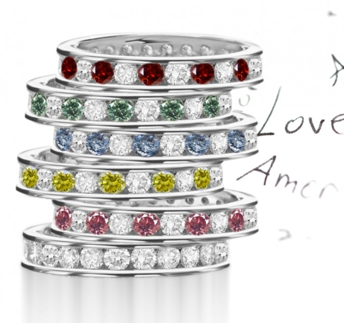 PREMIER-COLOR-DIAMOND-RINGS-PINK-DIAMONDS-BLUE-DIAMONDS-GREEN-DIAMONDS-YELLOW-DIAMONDS-BROWN-DIAMONDS-COLLECTION100-DISPLAY 11 Tips on Mixing Antique and Modern Décor Styles