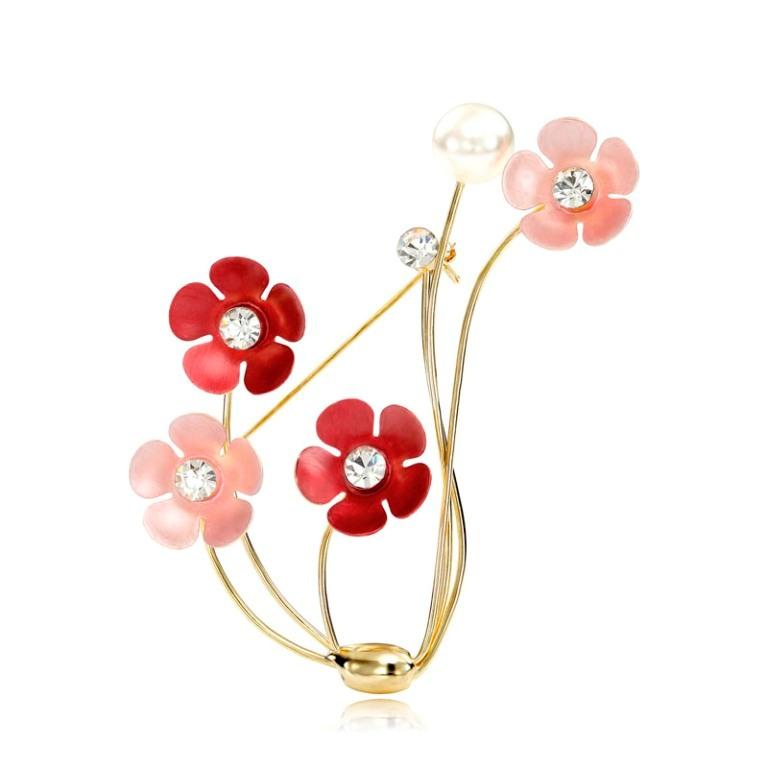 Pearl-Rhinestone-Flowers-Pin-Brooch-Gold__65594_zoom 50 Wonderful & Fascinating Pearl Brooches