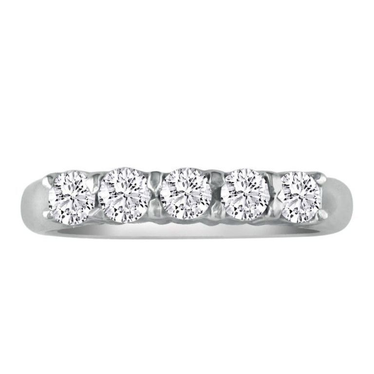 Perfect-1ct-Platinum-Diamond-Wedding-Band 60 Breathtaking & Marvelous Diamond Wedding bands for Him & Her