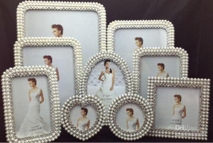 Photo-frames-in-different-sizes-set-pearl-diamond-inlaid-metal-alloy 35 Best Affordable & Catchy Bachelorette Party Gift Ideas