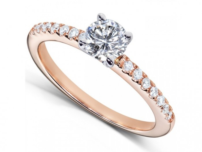 Pink-Gold-Engagement-Rings Top 70 Dazzling & Breathtaking Rose Gold Engagement Rings