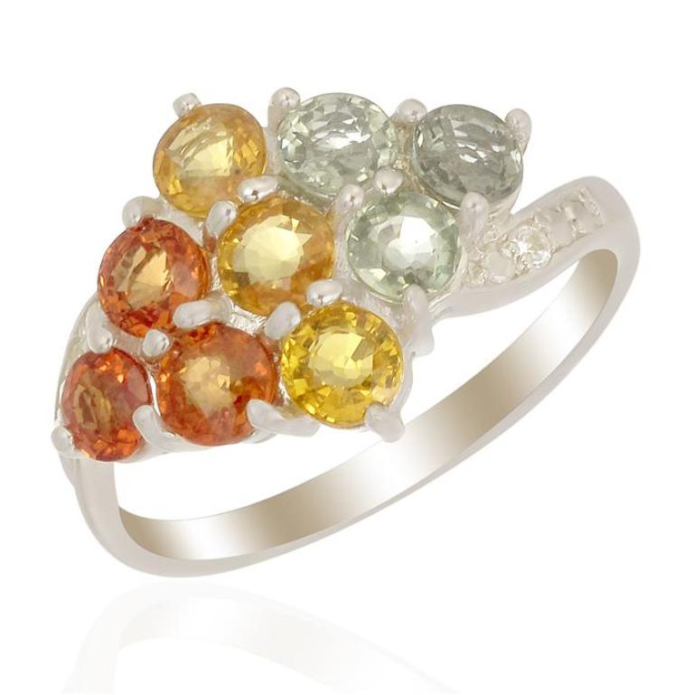 QFDS131 40 Elegant Orange Sapphire Rings for Different Occasions