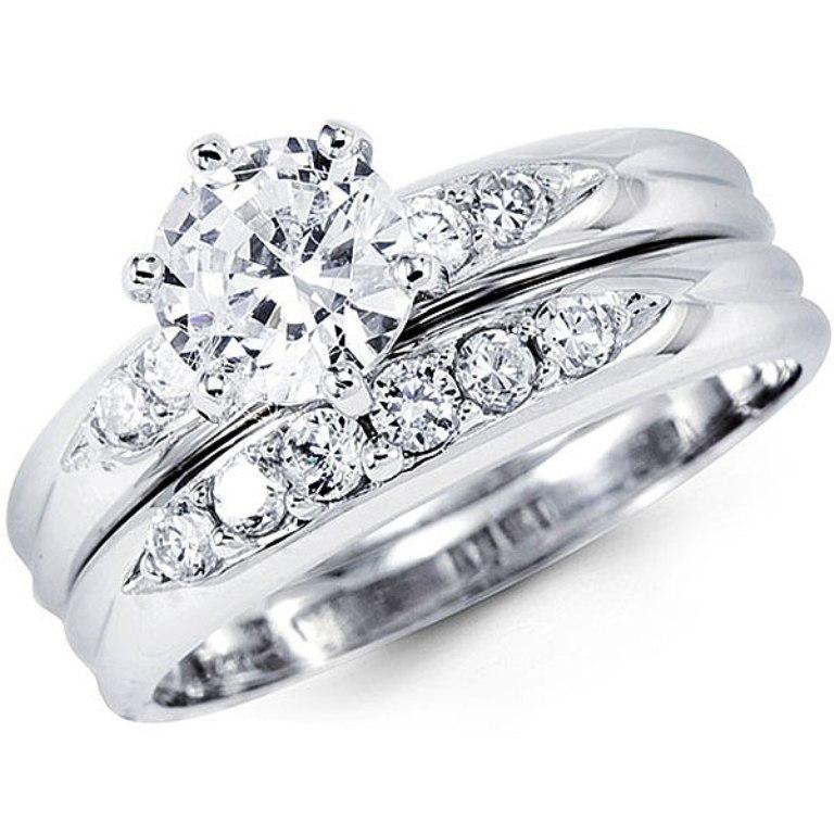 R7110 35 Dazzling & Catchy Bridal Wedding Ring Sets