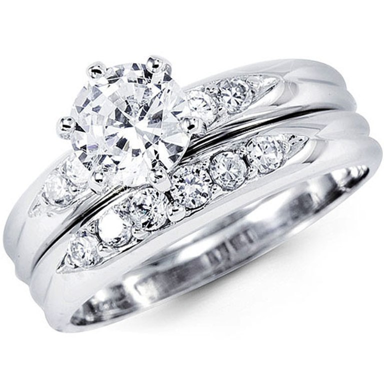 R7110 35 Dazzling & Catchy Bridal Wedding Ring Sets