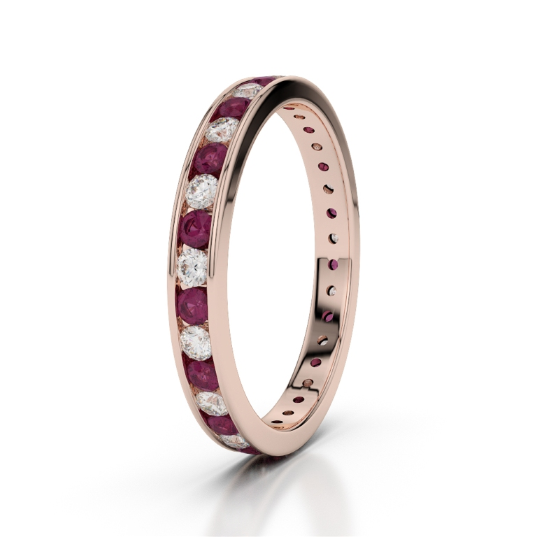 RGold_Ruby_Eternity_Ring_1087 55 Fascinating & Marvelous Ruby Eternity Rings