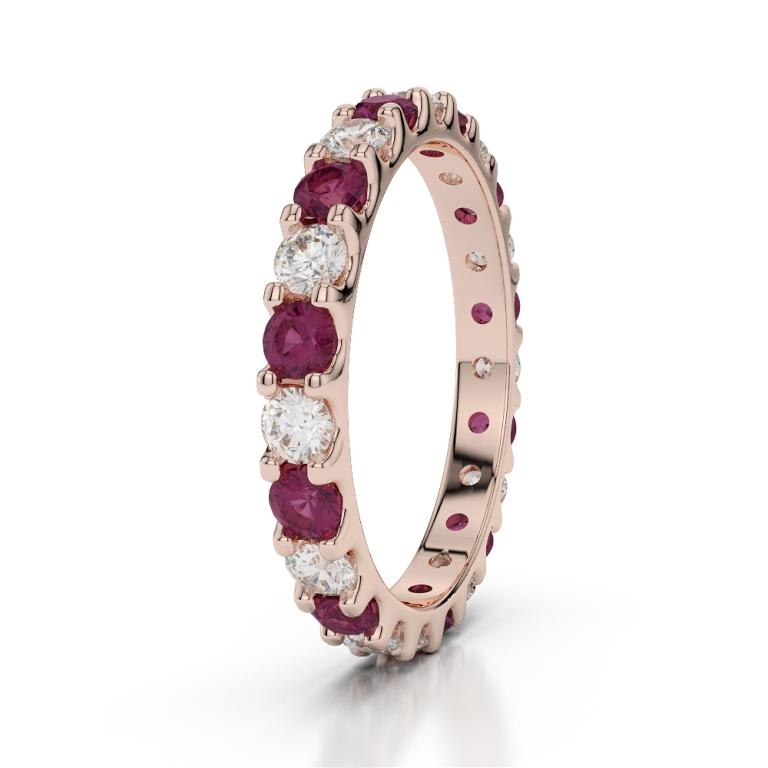 RGold_Ruby_Eternity_Ring_1105 55 Fascinating & Marvelous Ruby Eternity Rings