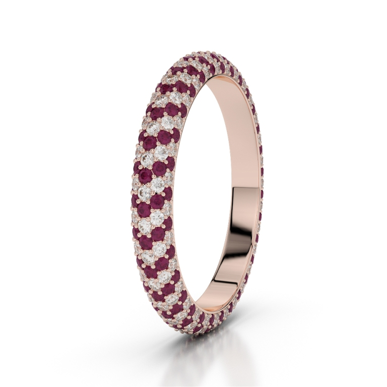 RGold_Ruby_Eternity_Ring_1115 55 Fascinating & Marvelous Ruby Eternity Rings