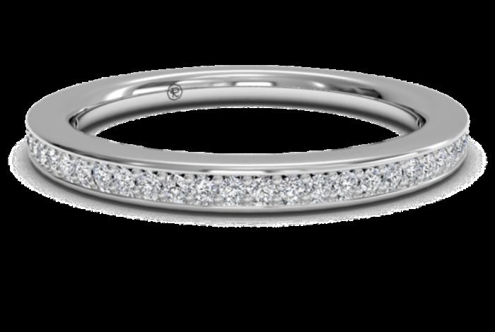 RITANI_ENDLESS_LOVE_MICROPAVE_DIAMOND_WEDDING_BAND_21694_marshall_pierce_chicago 60 Breathtaking & Marvelous Diamond Wedding bands for Him & Her