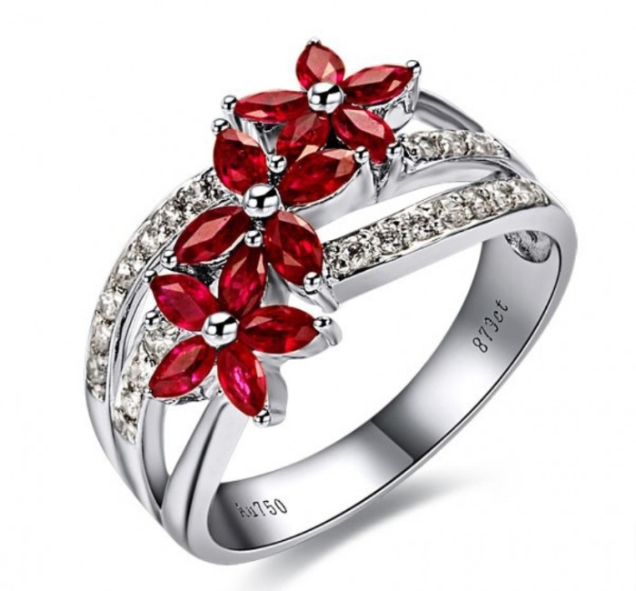 Red-diamond-engagement-rings 60 Magnificent & Breathtaking Colored Stone Engagement Rings