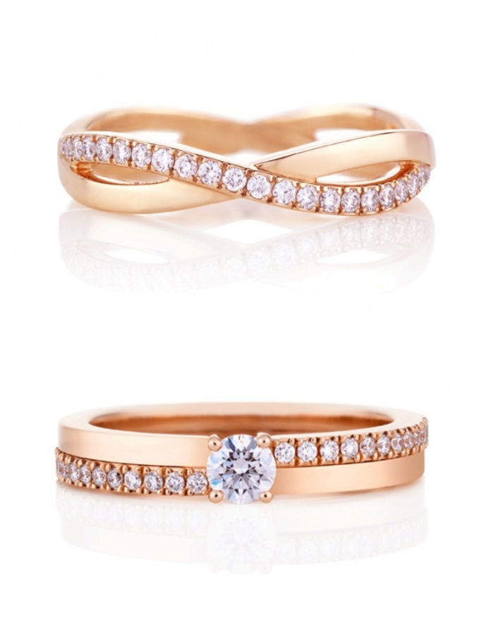 Rose-gold-ring02-DeBeers Top 60 Stunning & Marvelous Rose Gold Wedding Bands