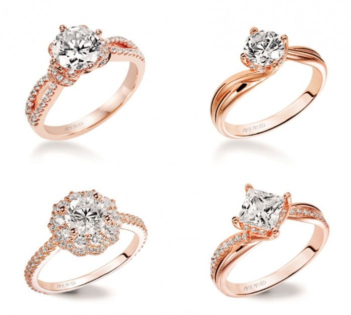 Rose-gold-ring05-Art-Carved Top 70 Dazzling & Breathtaking Rose Gold Engagement Rings