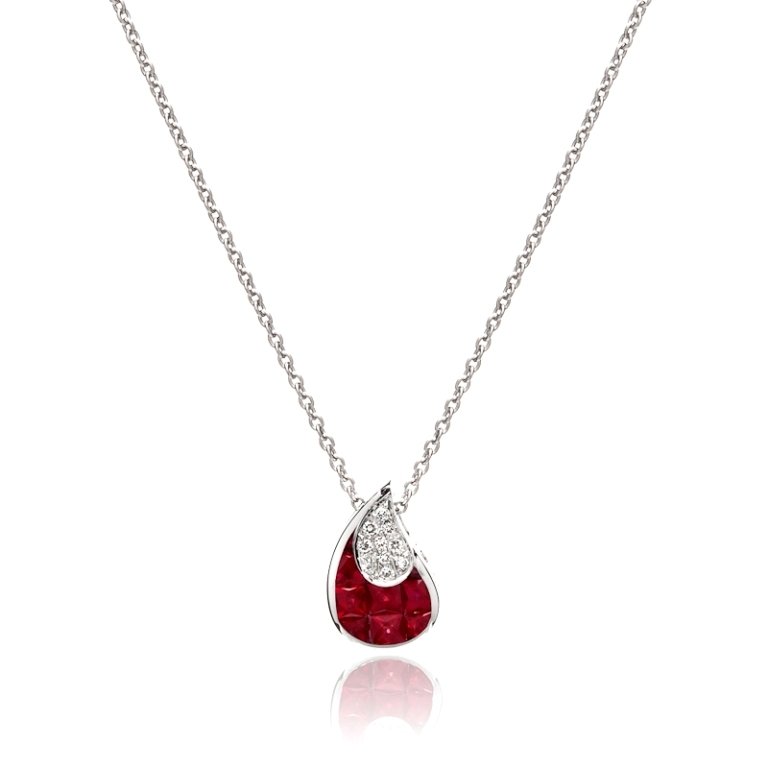 Ruby-and-Diamond-Pendant-245-100091 50 Unique Diamond Necklaces & Pendants