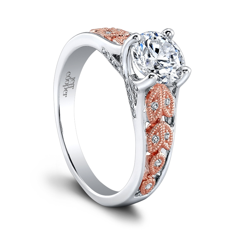 SRP-1635TT-RD6.5CZ_TT_ROSE1 Top 70 Dazzling & Breathtaking Rose Gold Engagement Rings
