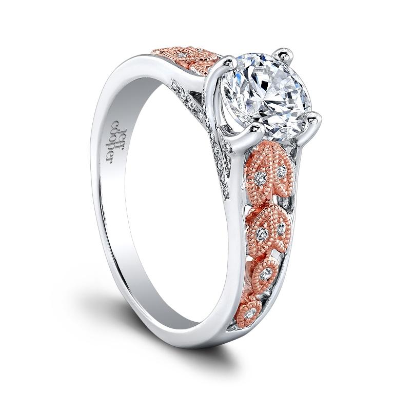 SRP-1635TT-RD6.5CZ_TT_ROSE1 Top 70 Dazzling & Breathtaking Rose Gold Engagement Rings