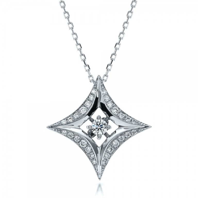 Star-Diamond-Pendant-front-100648 50 Unique Diamond Necklaces & Pendants