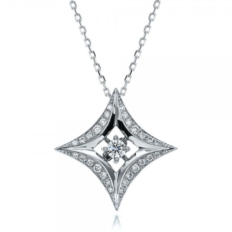 Star-Diamond-Pendant-front-100648 50 Unique Diamond Necklaces & Pendants
