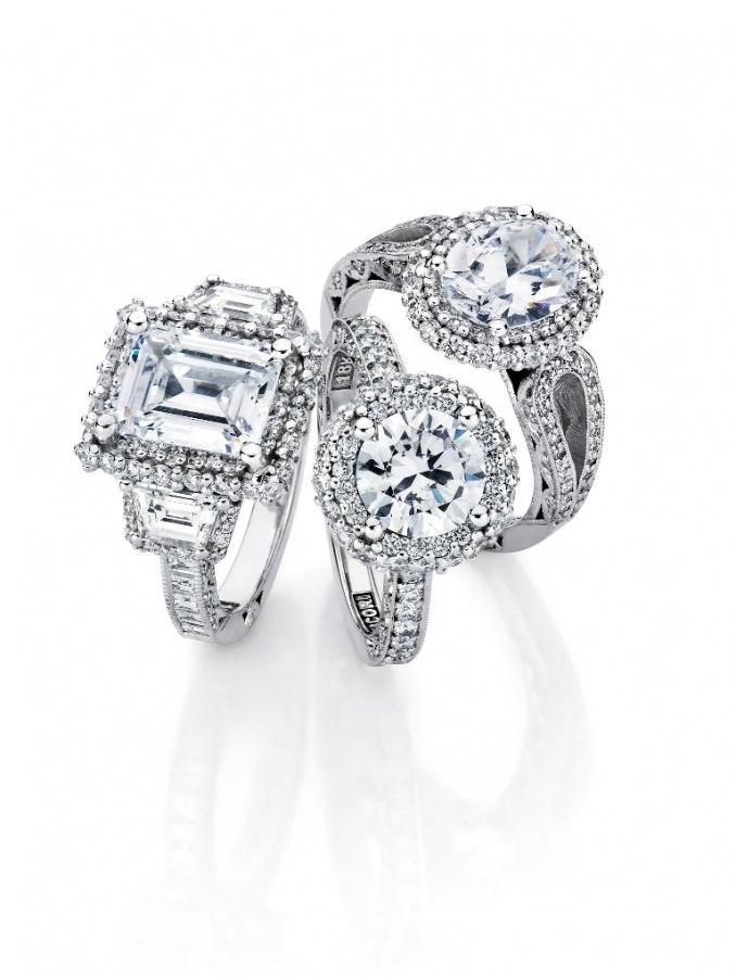 Tacori_Blooming_Beauty_Trio_lo-41 50 Unique Vintage Classic Diamond Engagement Rings