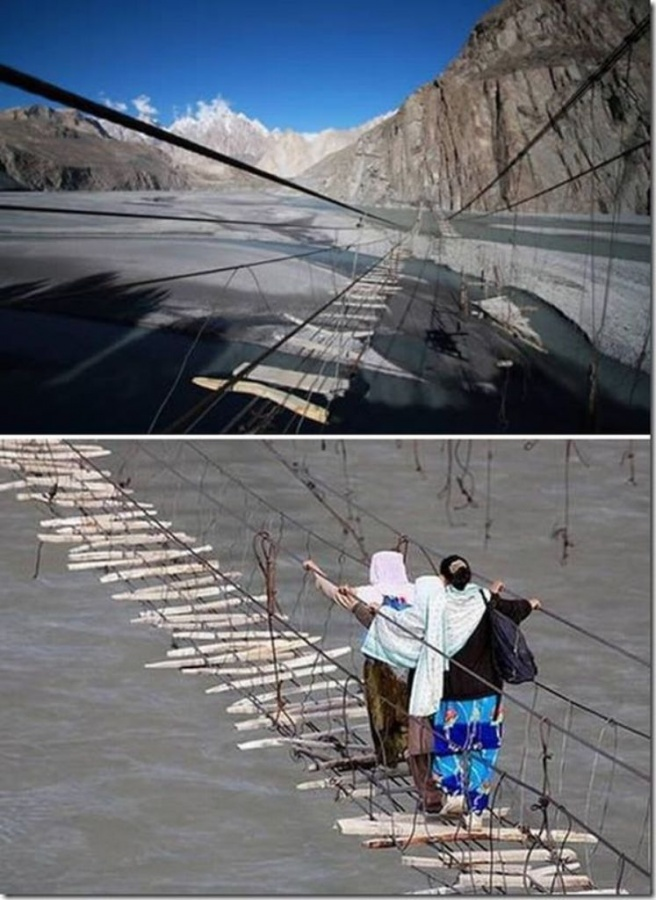 The-Hussaini-Hanging-Bridge-is-one-of-the-Most-Dangerous-Bridges-in-the-World-Northern-Pakistan The World's 15 Scariest Bridges that Will Freeze Your Heart