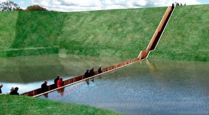 The-Moses-Bridge-is-a-sunken-pedestrian-bridge-in-the-Netherlands-that-parts-moat-waters-like-Moses-2 Have You Ever Seen Breathtaking & Weird Bridges Like These Before?