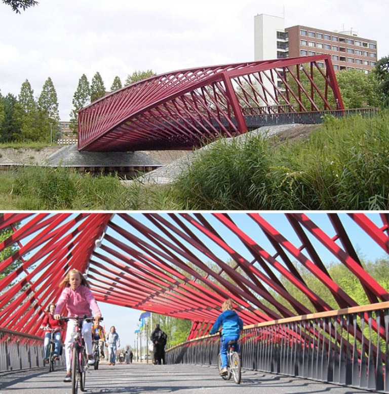 The_Twist_Bridge_Holland_collabcubed1 Have You Ever Seen Breathtaking & Weird Bridges Like These Before?