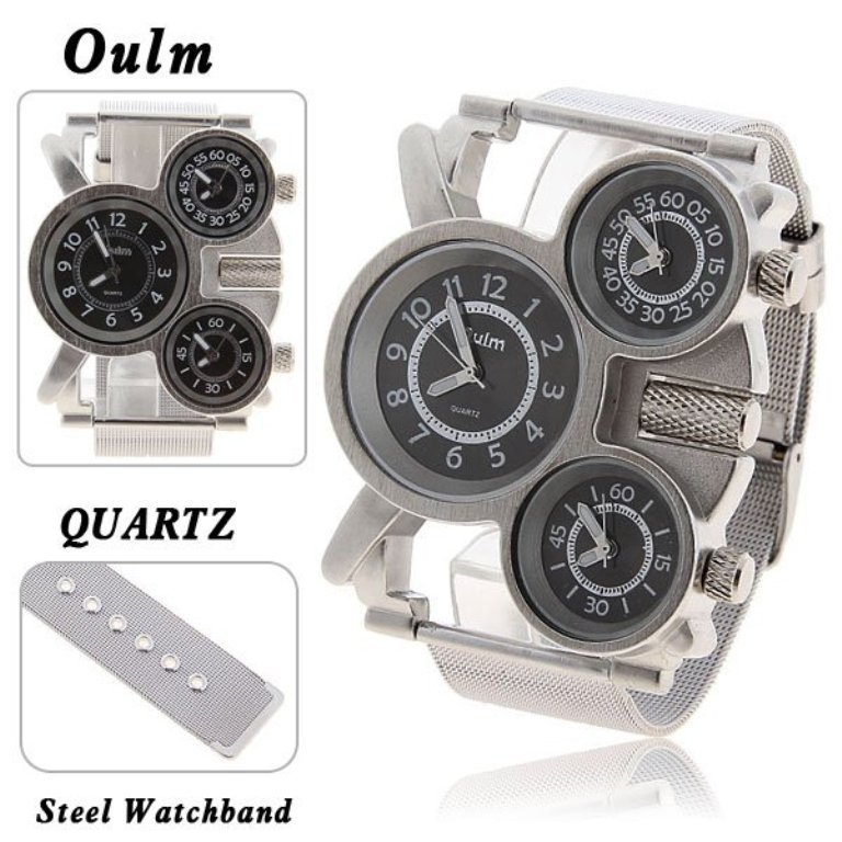Top-Brand-Oulm-Multi-Function-3-Movt-Quartz-Steel-Military-Wrist-Men-Watch-with-Black-Dial Best 35 Military Watches for Men