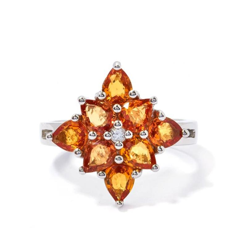 VLDS73 40 Elegant Orange Sapphire Rings for Different Occasions