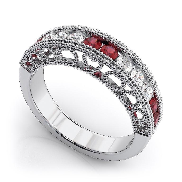 WB1122R-B1 35 Fabulous Antique Palladium Engagement Rings