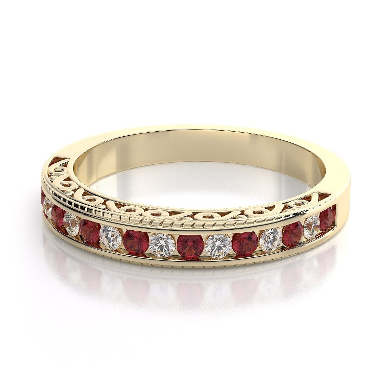 WB1185R-BD 55 Fascinating & Marvelous Ruby Eternity Rings