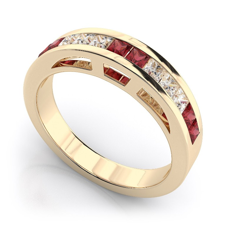 WB1205R-B1 55 Fascinating & Marvelous Ruby Eternity Rings