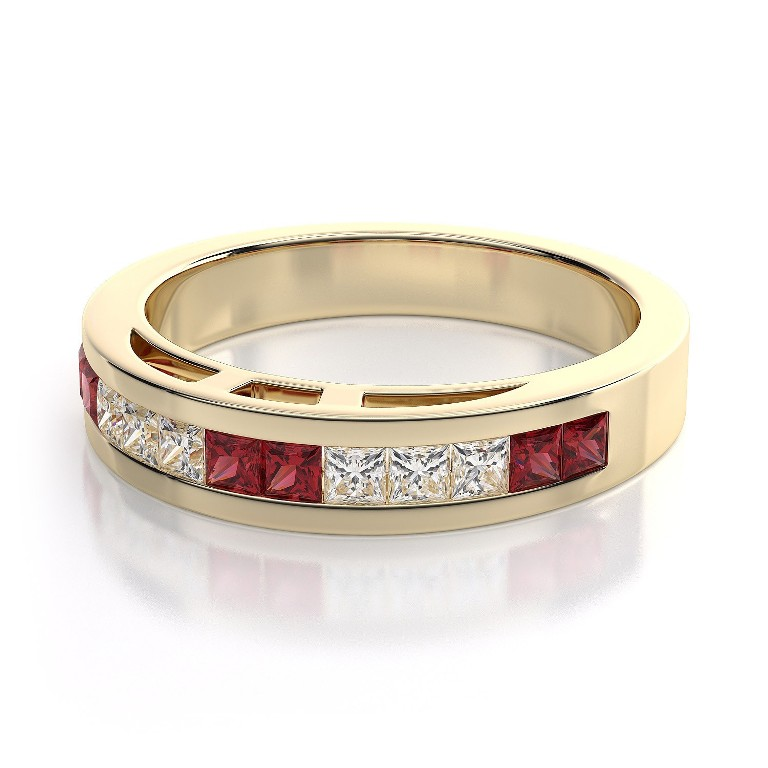 WB1205R-BD 55 Fascinating & Marvelous Ruby Eternity Rings