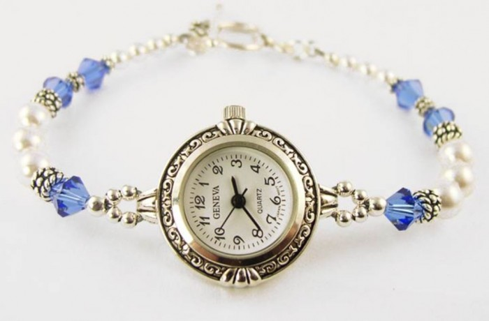 WCH23b-beaded-watches 65 Fabulous & Stunning Handmade Beaded Gemstone Jewelries