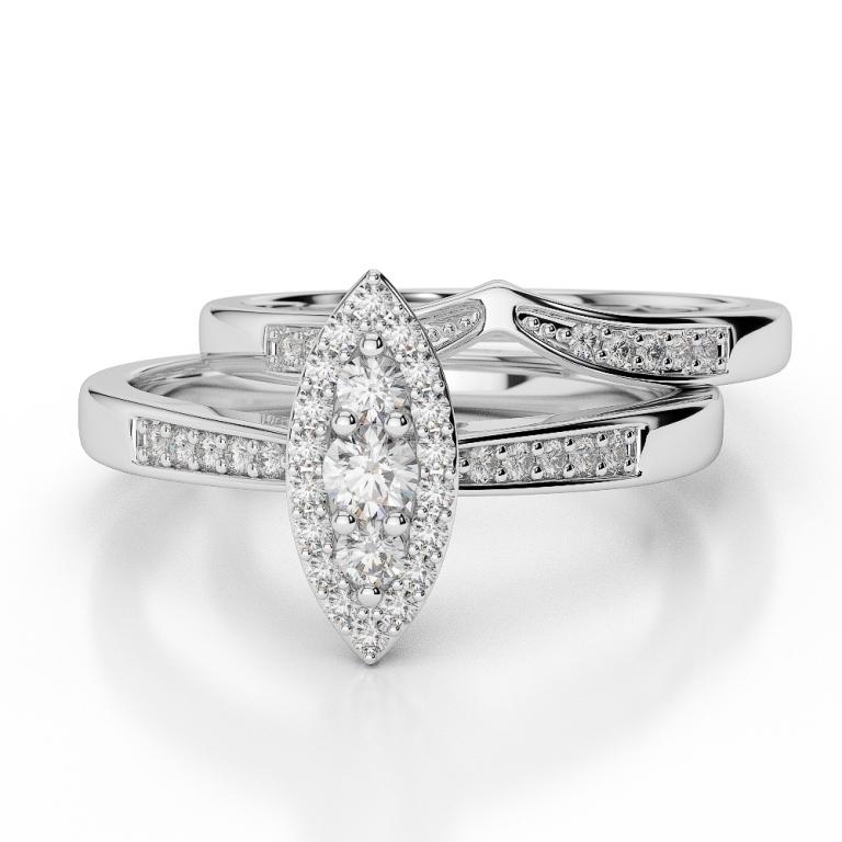 WGold_Diamond_Ring_1050_3 35 Dazzling & Catchy Bridal Wedding Ring Sets
