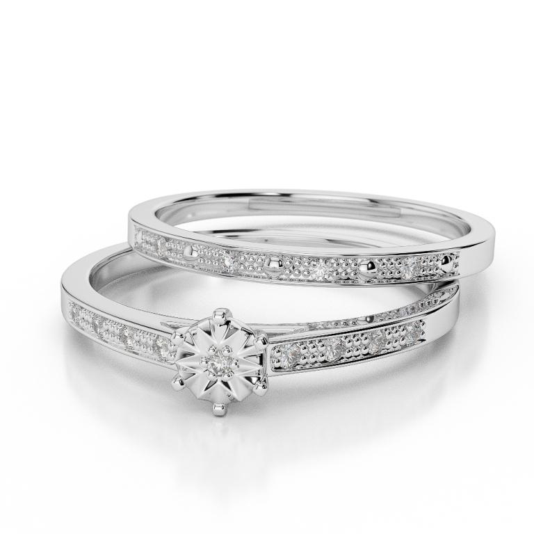 WGold_Diamond_Ring_1056_3 35 Dazzling & Catchy Bridal Wedding Ring Sets