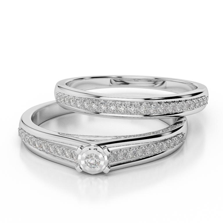 WGold_Diamond_Ring_1059_3 35 Dazzling & Catchy Bridal Wedding Ring Sets