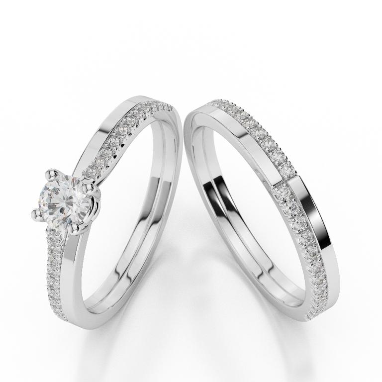 WGold_Diamond_Ring_1060_1 35 Dazzling & Catchy Bridal Wedding Ring Sets