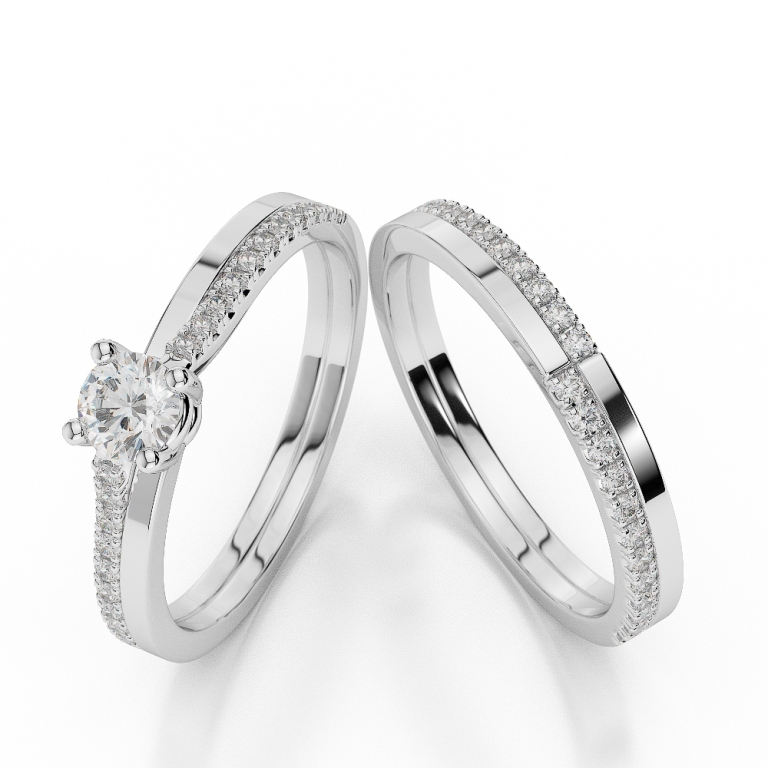 WGold_Diamond_Ring_1060_1 35 Dazzling & Catchy Bridal Wedding Ring Sets