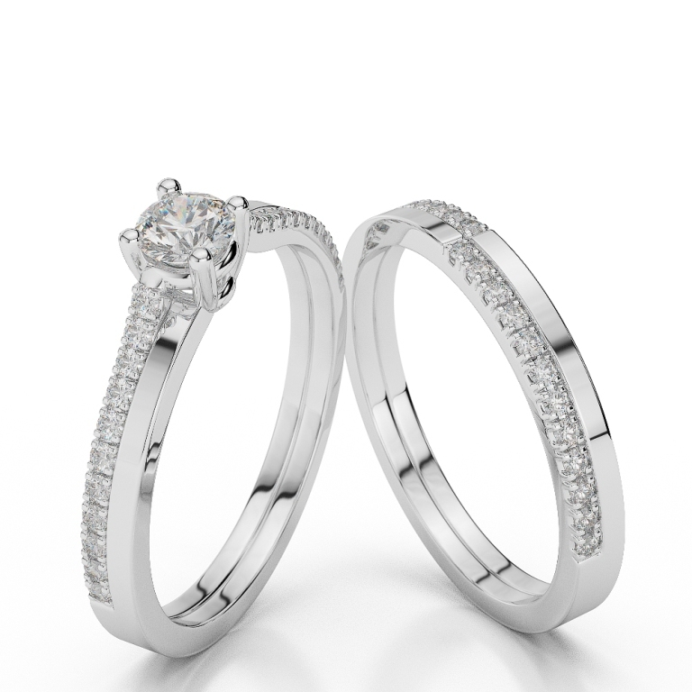 WGold_Diamond_Ring_1060_2 35 Dazzling & Catchy Bridal Wedding Ring Sets