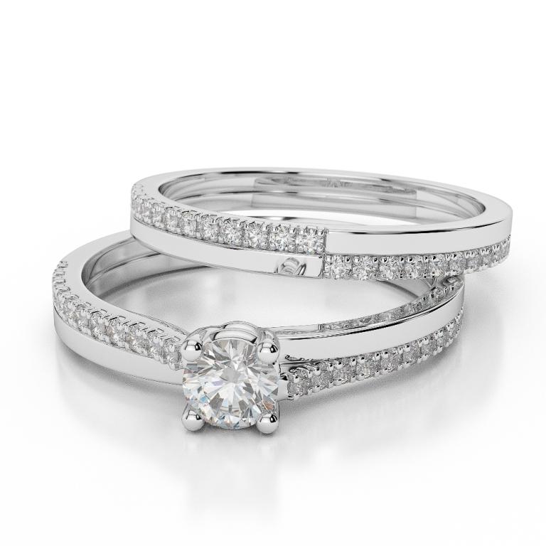 WGold_Diamond_Ring_1060_3 35 Dazzling & Catchy Bridal Wedding Ring Sets