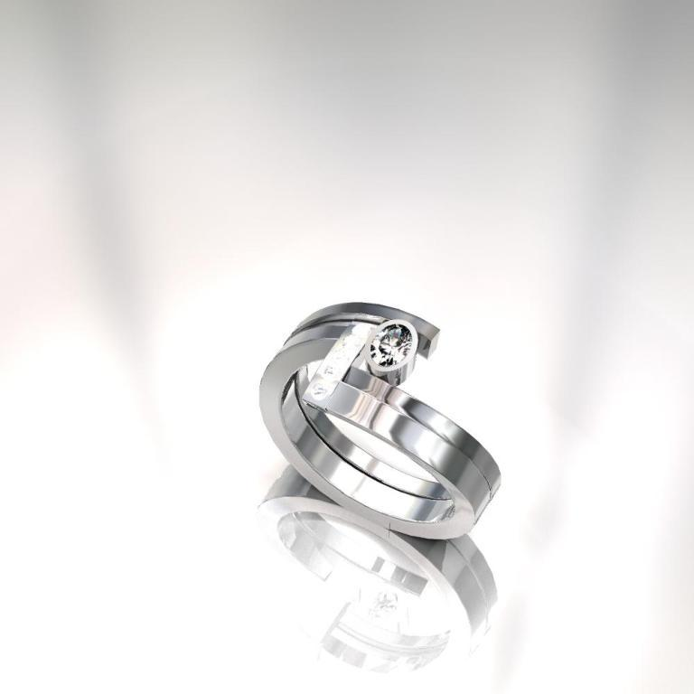 Wave-2440K-render-542011 40 Unique & Unusual Wedding Rings for Him & Her
